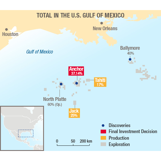 Total Advances Two Deepwater GOM Projects
