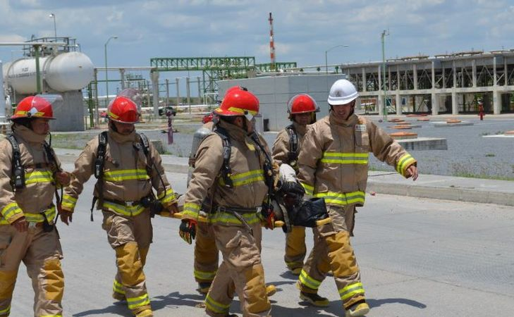 Pemex's Emergency Drill At Dos Bocas Terminal