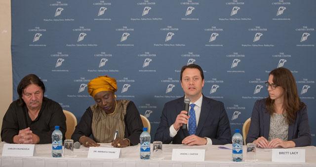 Jason Carter Speaks To Media In Guyana