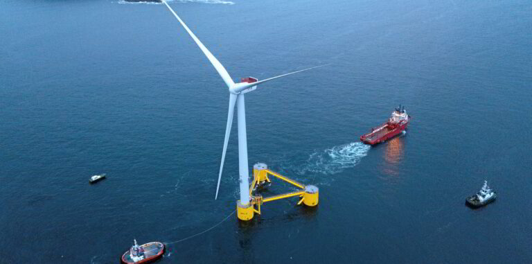 First Semi-submersible Floating Wind Farm Sets Sail