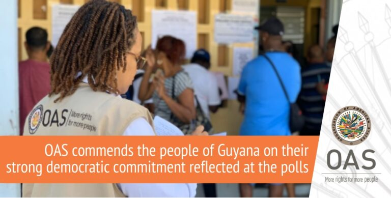 Statement From The OAS On The Elections In Guyana