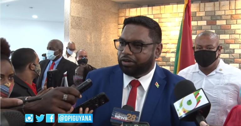 Presidents Irfaan Ali Speaks To Members Of Media
