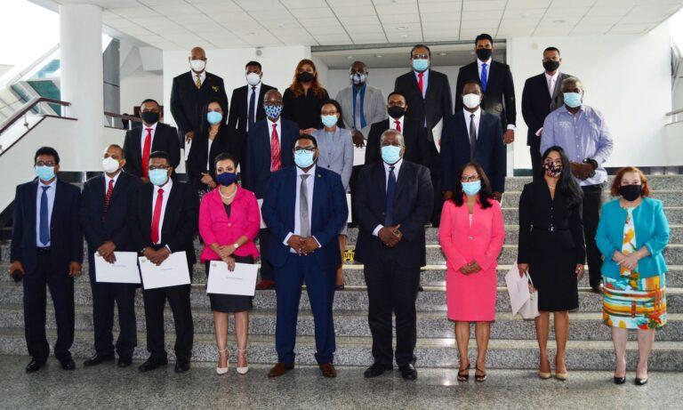 Guyana's President Ali Swears In 19 Ministers