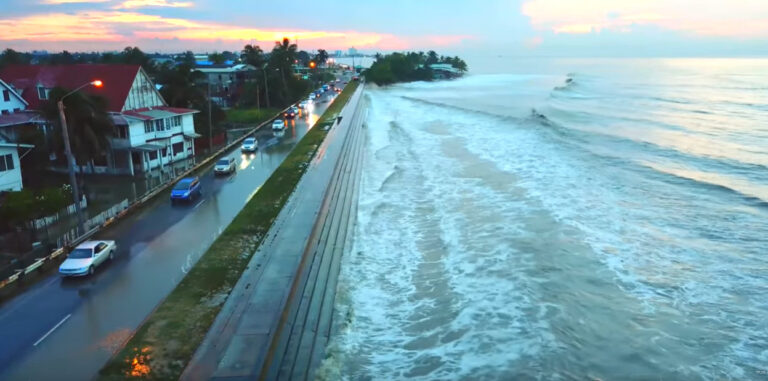 Guyana's Coast Gets Battered By Waves