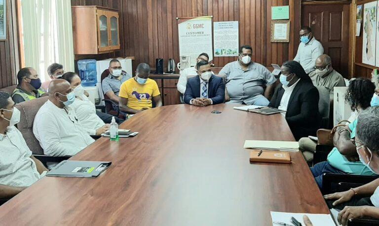 Guyana's Bharrat Meets Mining Sector Contractors