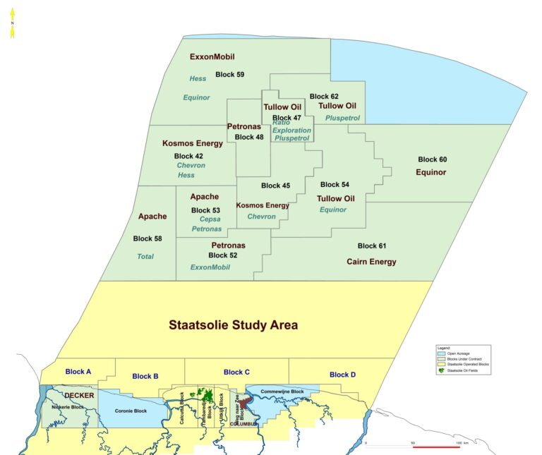 Suriname's 14 Active PSCs With IOCs And NOCs