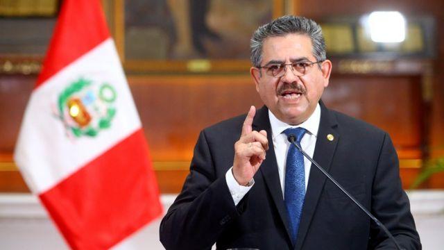 Peru's Interim President Merino Resigns