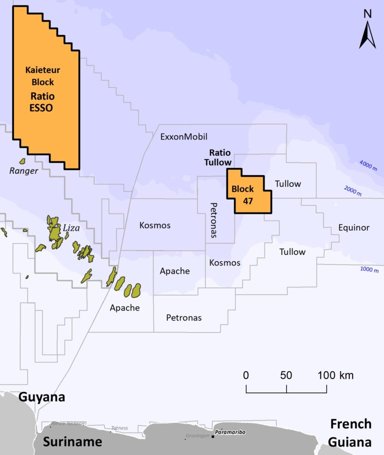 Goliathberg Voltzberg North To Spud Offshore Suriname