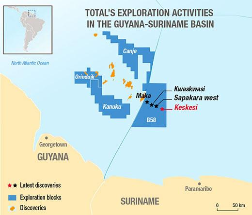 Total Announces Fourth Find In Suriname's Block 58