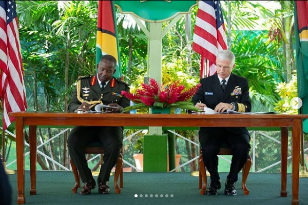Guyana And US Ink Agreement In Georgetown