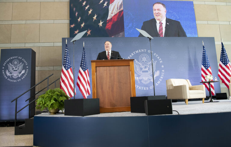 Pompeo On Win-Win Solutions, Capital Storming