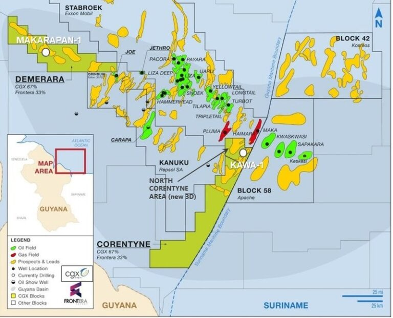 Frontera Releases Resources Details On Guyana Blocks