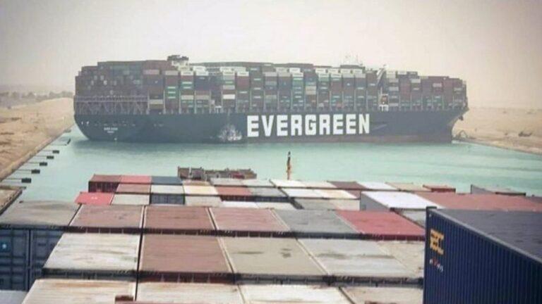 Suez Canal Blockage Causes Vessel Build-up